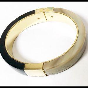 Michael Kors black and marble bangle bracelet